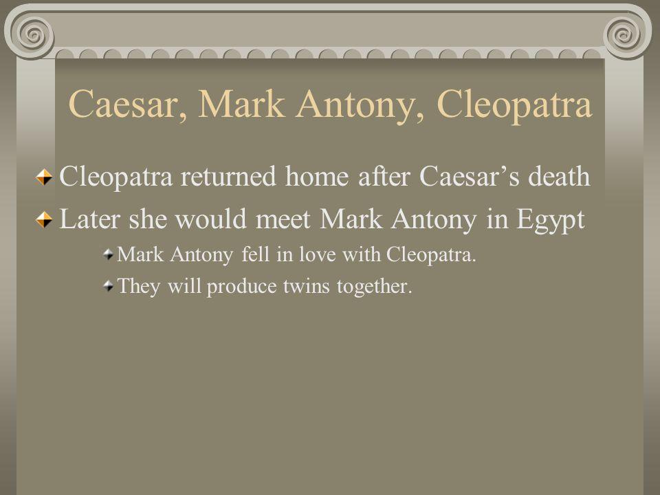 Second Triumvirate Second Triumvirate: Octavian, Mark Antony and Lepidus.