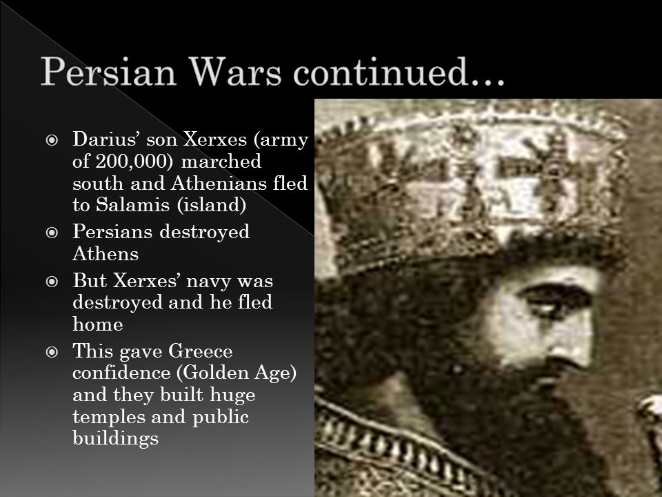  546 B.C. – Cyrus of Persia conquered Greece  Persians let the Greeks keep gov't but made them pay taxes  499 B.C. – rebellions broke out (Persian
