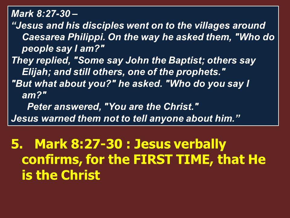 The Messianic Secret 1.Mark 1:40-45 (43-44) – Healing of the Leper (Divine forgiveness) 2.Mark 3:11-12 – Casting out of evil spirits 3.Mark 5:21-43 (4