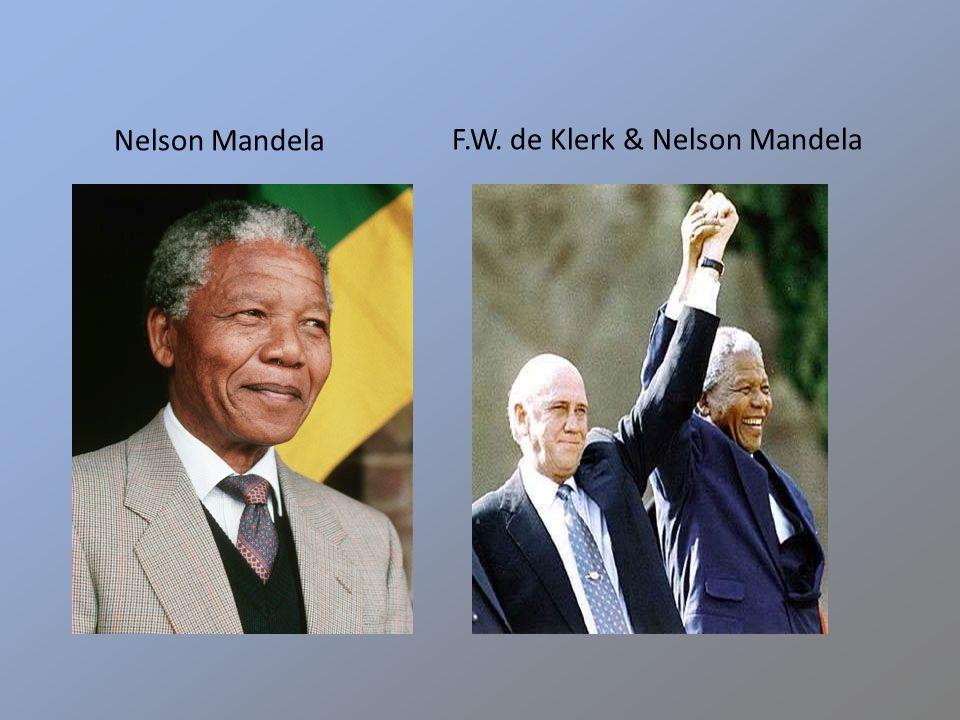 Nelson Mandela F.W. de Klerk & Nelson Mandela