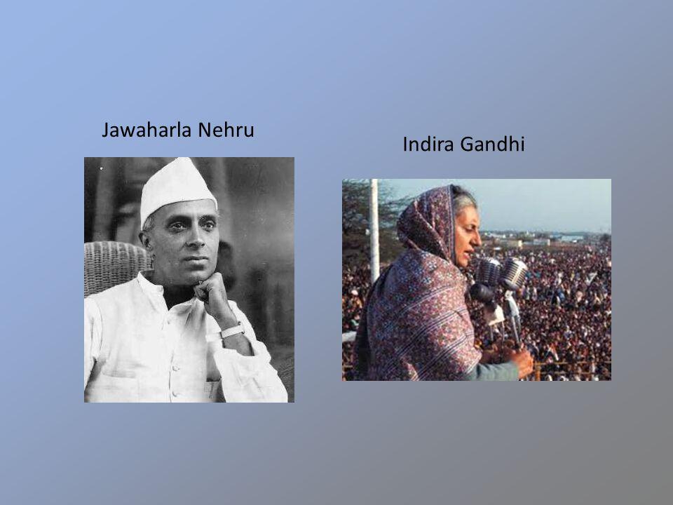 Jawaharla Nehru Indira Gandhi