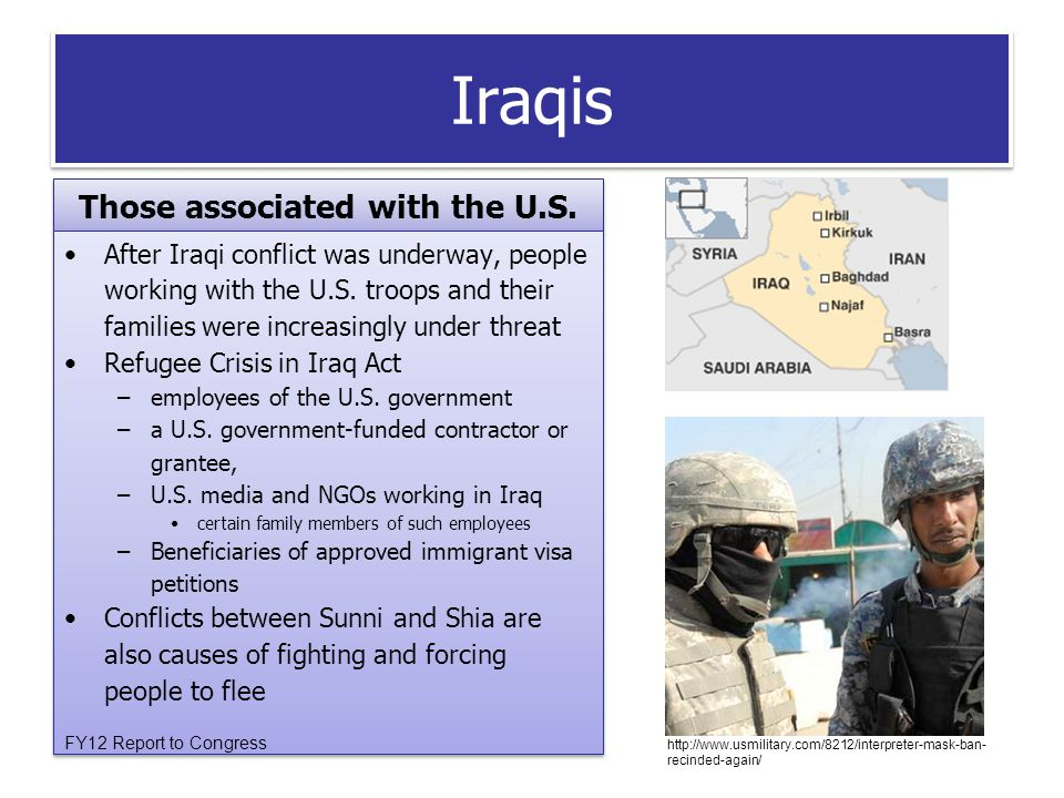Iraqis Those associated with the U.S.