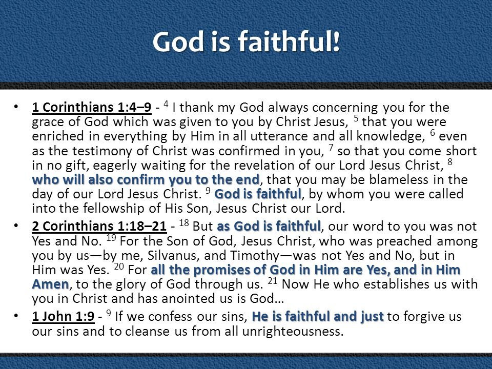 God cannot lie.
