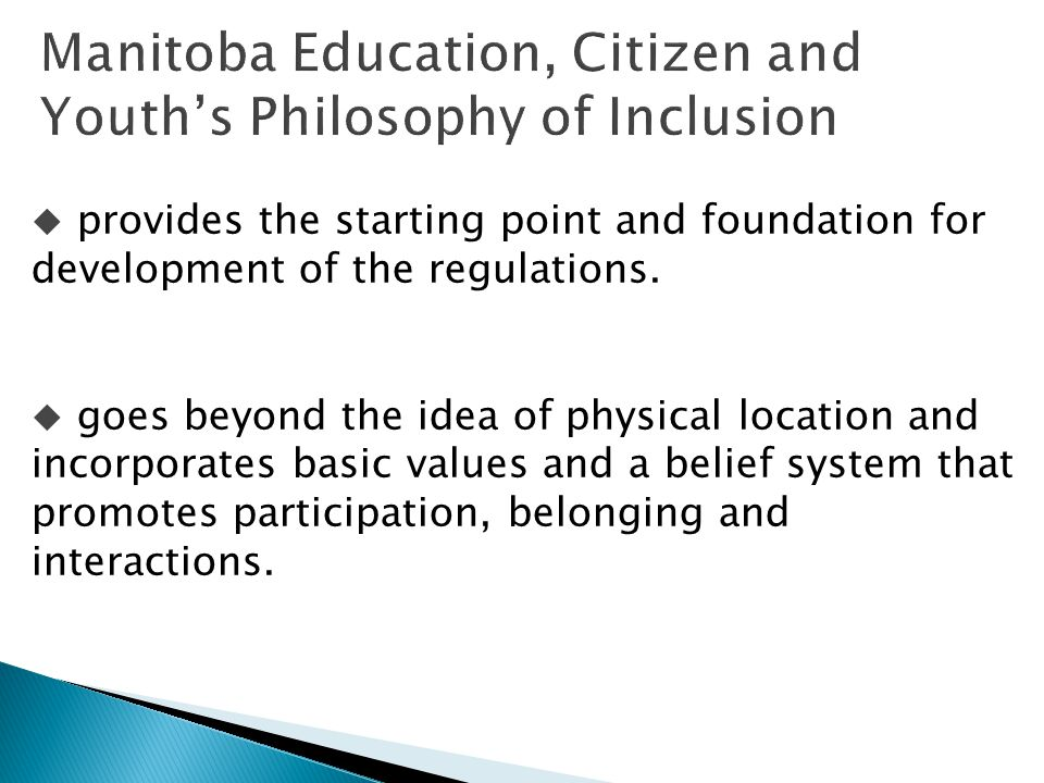  provides the starting point and foundation for development of the regulations.