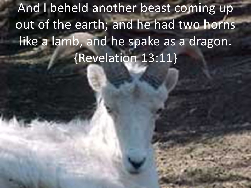 And I beheld another beast coming up out of the earth; and he had two horns like a lamb, and he spake as a dragon.