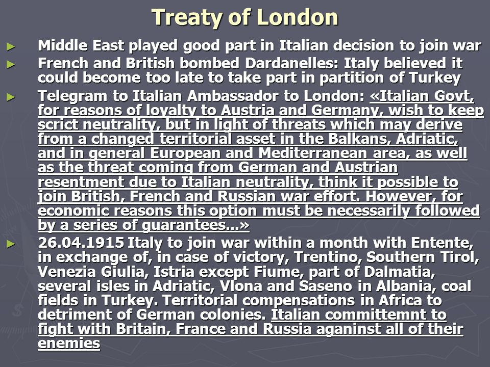 Prof. Bruno Pierri History of Italian Foreign Policy Fascist Italy and the Middle East: From the Treaty of London to the first Fascist Decade March 11