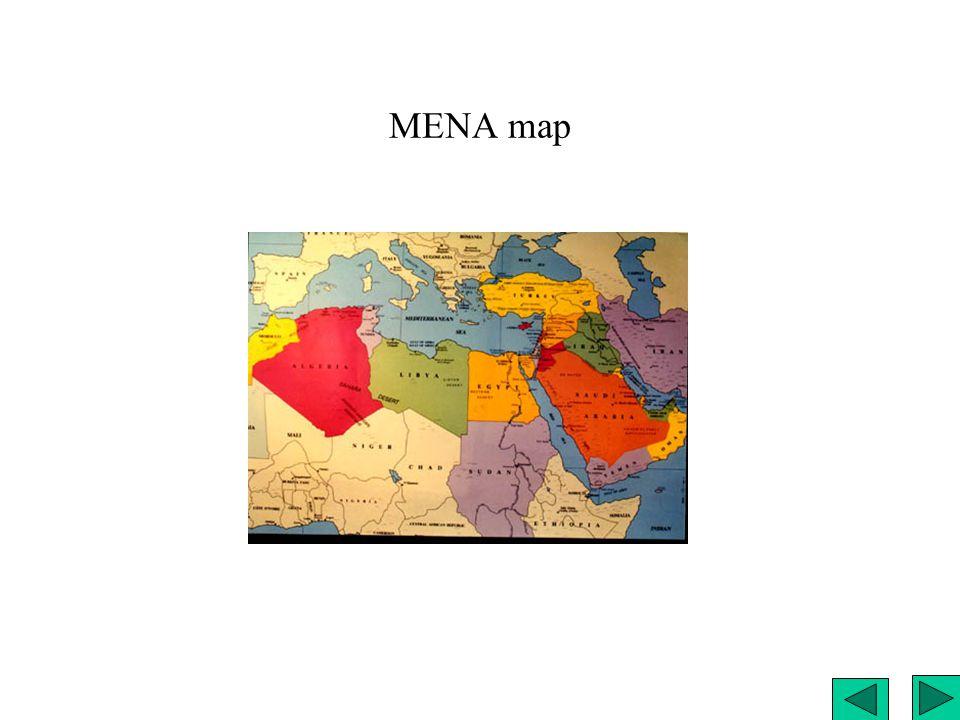 MENA map