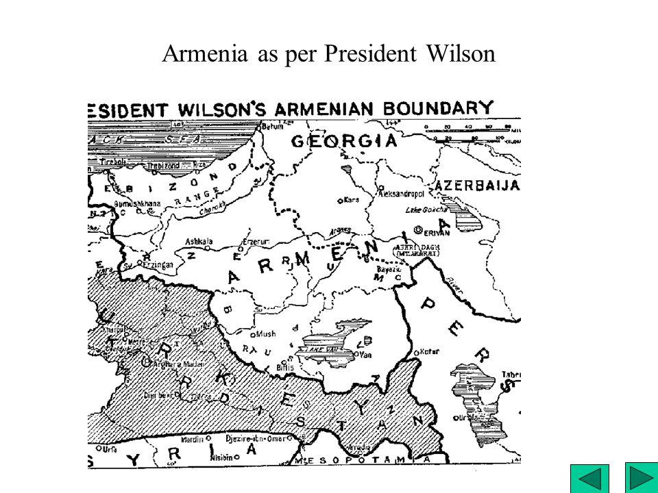 Armenia as per President Wilson