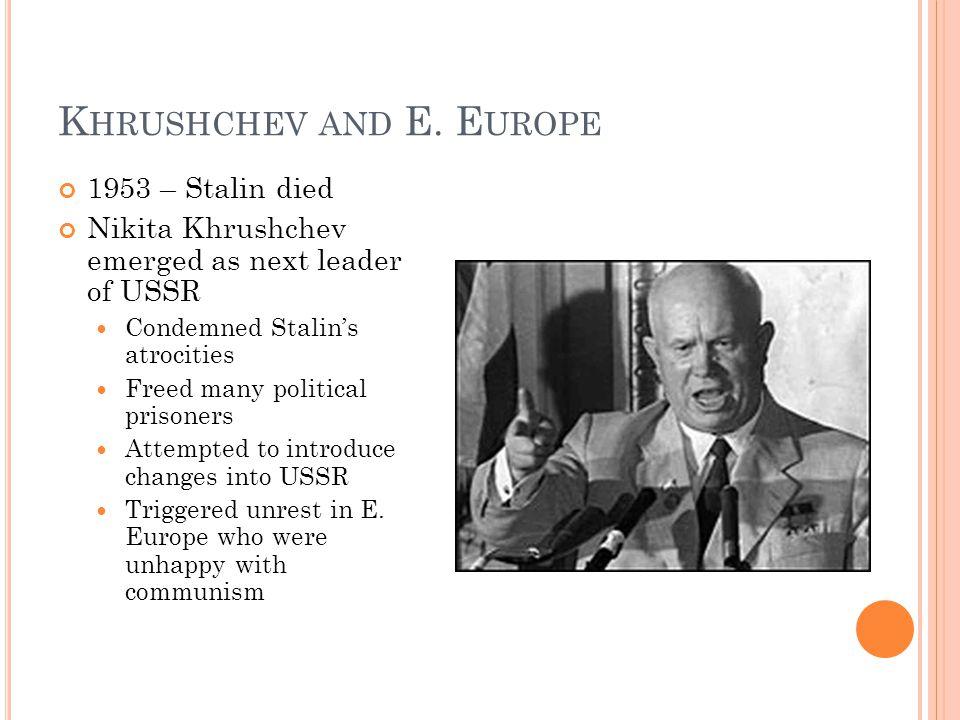 K HRUSHCHEV AND E.