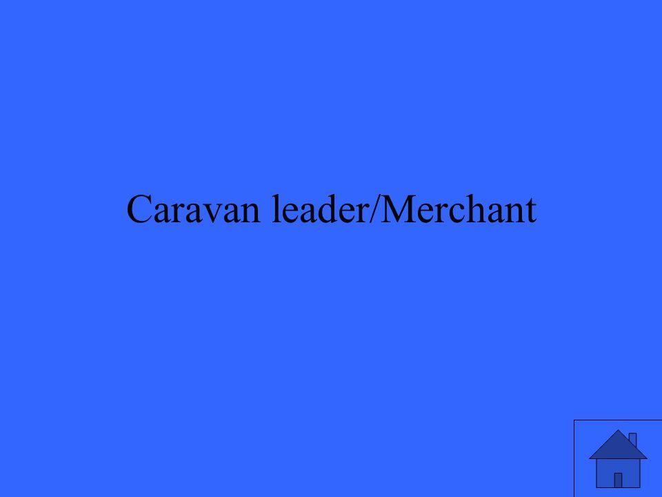 Caravan leader/Merchant