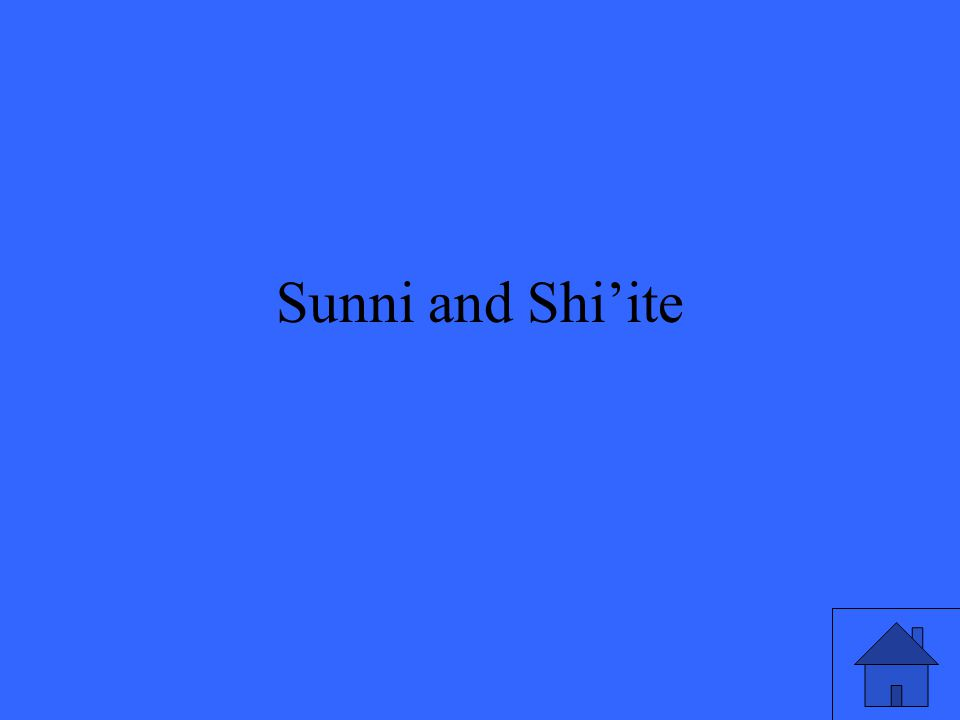 Sunni and Shi'ite