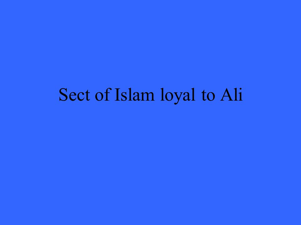 Sect of Islam loyal to Ali