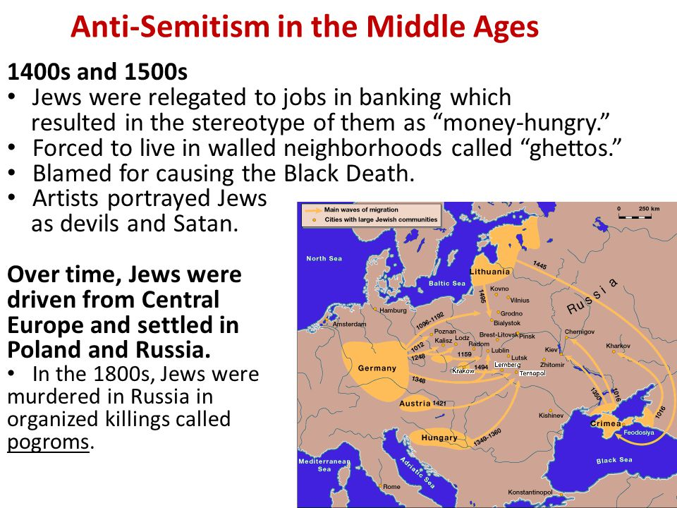 """Anti-Semitism during the Crusades The 1 st Crusades """"Baptism or Death"""" for Jews. Nearly 10,000 Jews died because they refused to convert. One Crusade"""