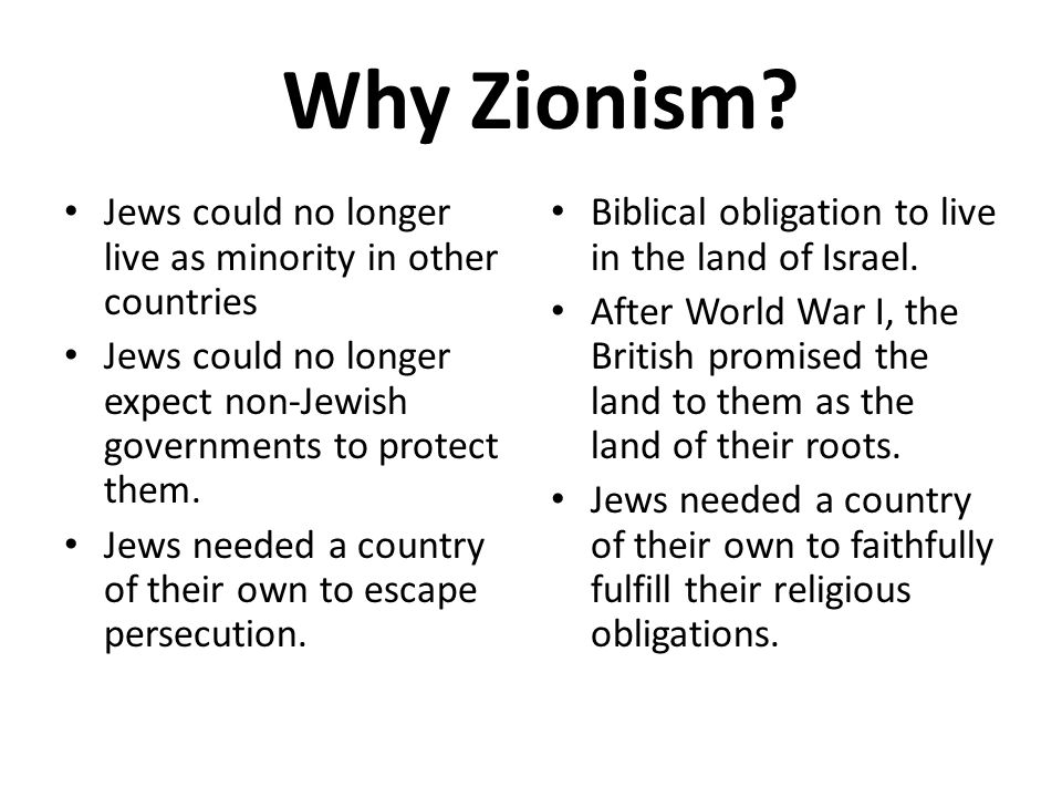 Why Zionism.