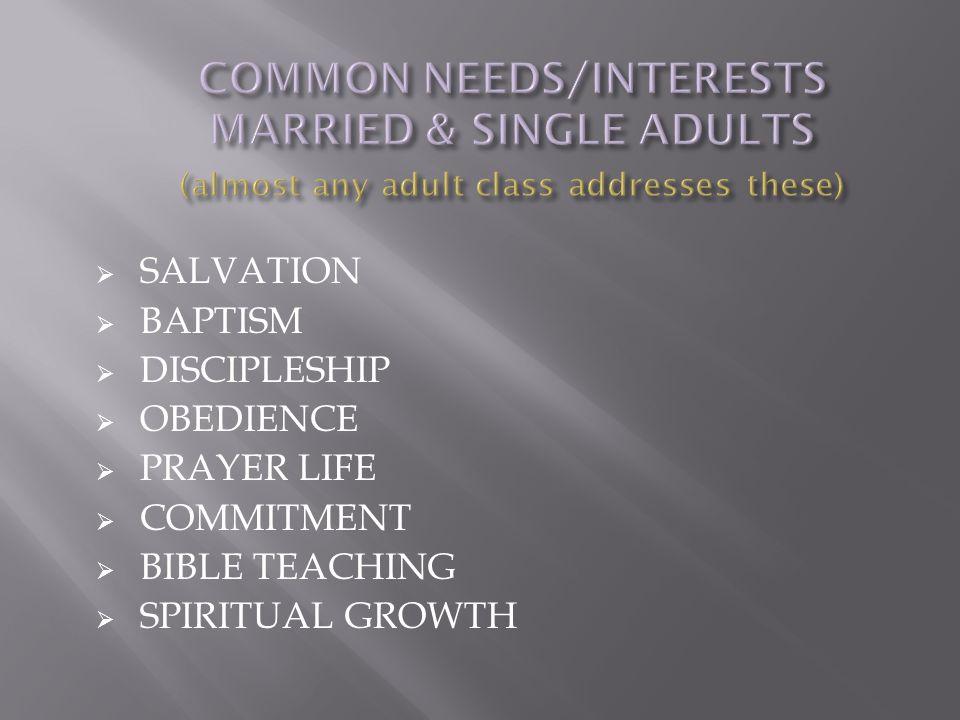  SALVATION  BAPTISM  DISCIPLESHIP  OBEDIENCE  PRAYER LIFE  COMMITMENT  BIBLE TEACHING  SPIRITUAL GROWTH