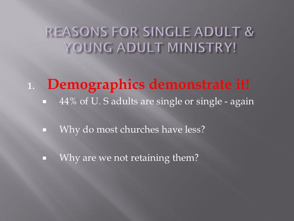 1. Demographics demonstrate it.  44% of U.