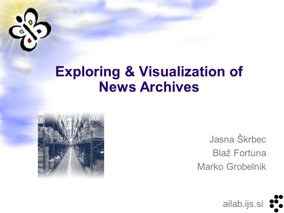 ailab.ijs.si Jasna Škrbec Blaž Fortuna Marko Grobelnik Exploring & Visualization of News Archives