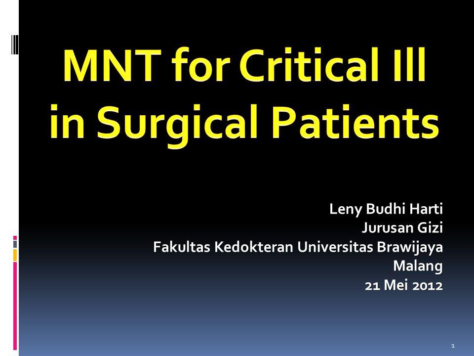 Leny Budhi Harti Jurusan Gizi Fakultas Kedokteran Universitas Brawijaya Malang 21 Mei 2012 1