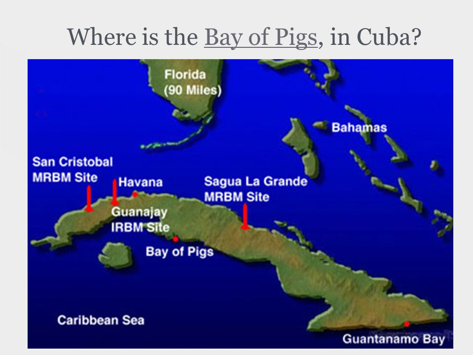 Where is the Bay of Pigs, in Cuba Bay of Pigs