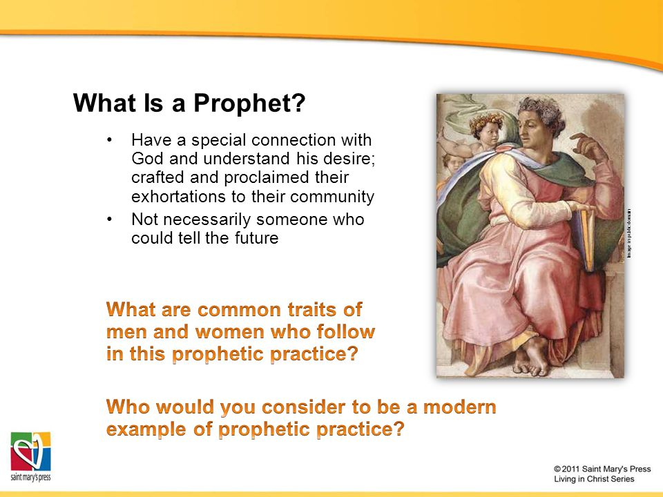 What Is a Prophet? Image in public domain