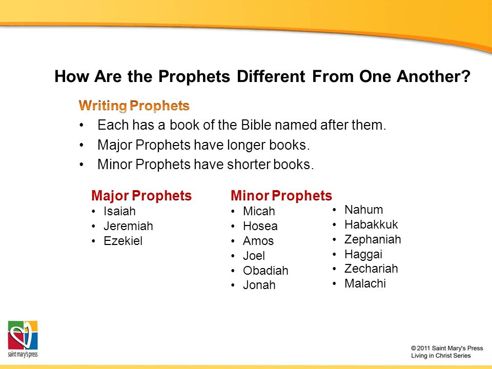 How Are the Prophets Different From One Another?