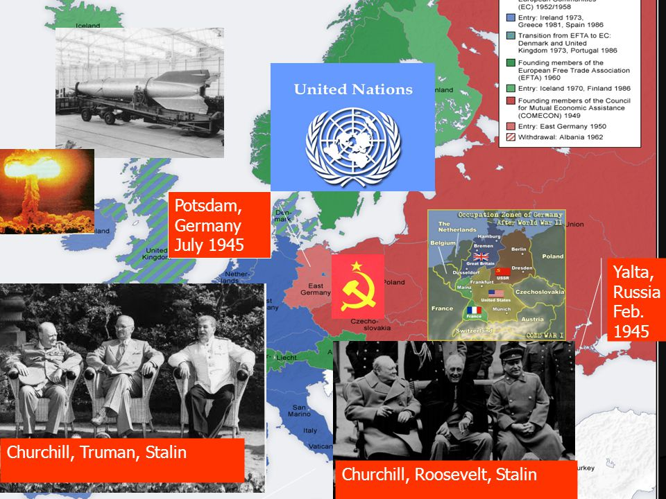 Potsdam, Germany July 1945 Yalta, Russia Feb.