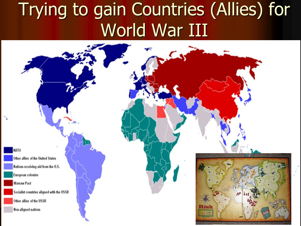 Trying to gain Countries (Allies) for World War III