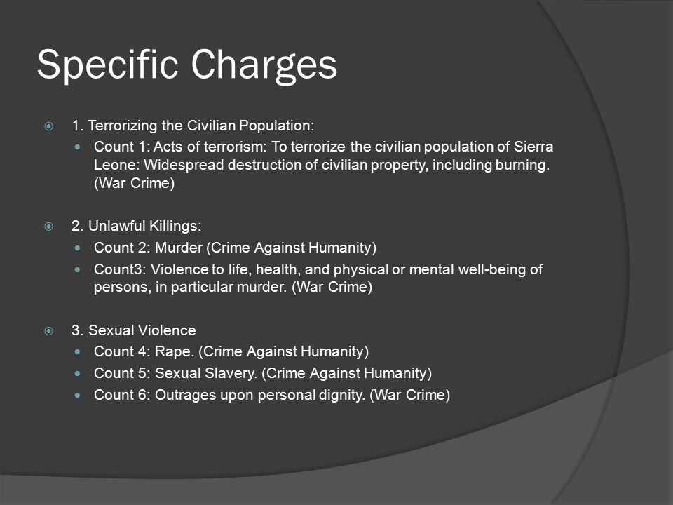 Specific Charges  4.