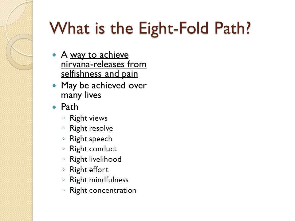 What is the Eight-Fold Path.