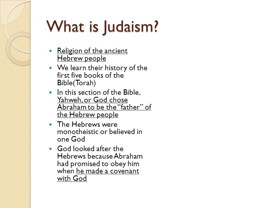What is Judaism.