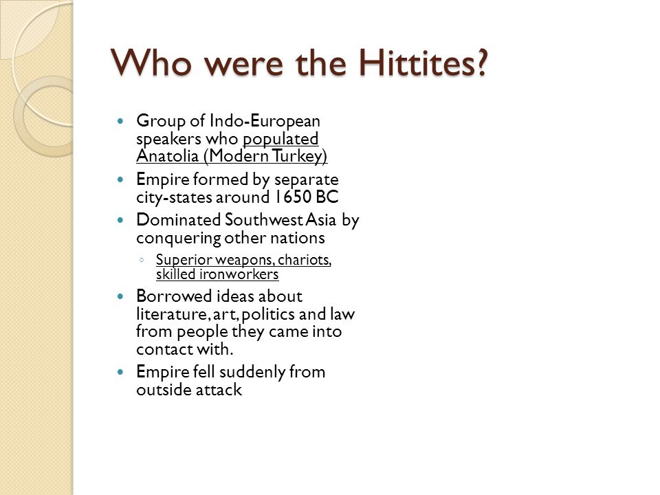 Who were the Hittites.