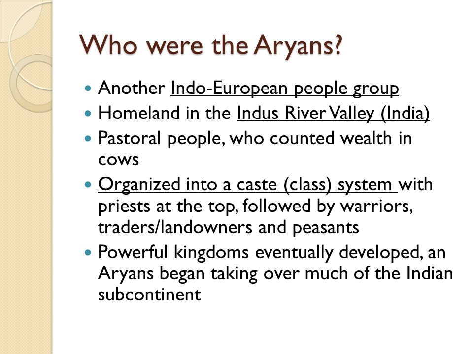 Who were the Aryans.