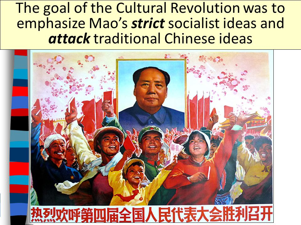 "Mao's ""Cultural Revolution"" After the failure of the Great Leap Forward, Mao began the Cultural Revolution (1966 -1976)"