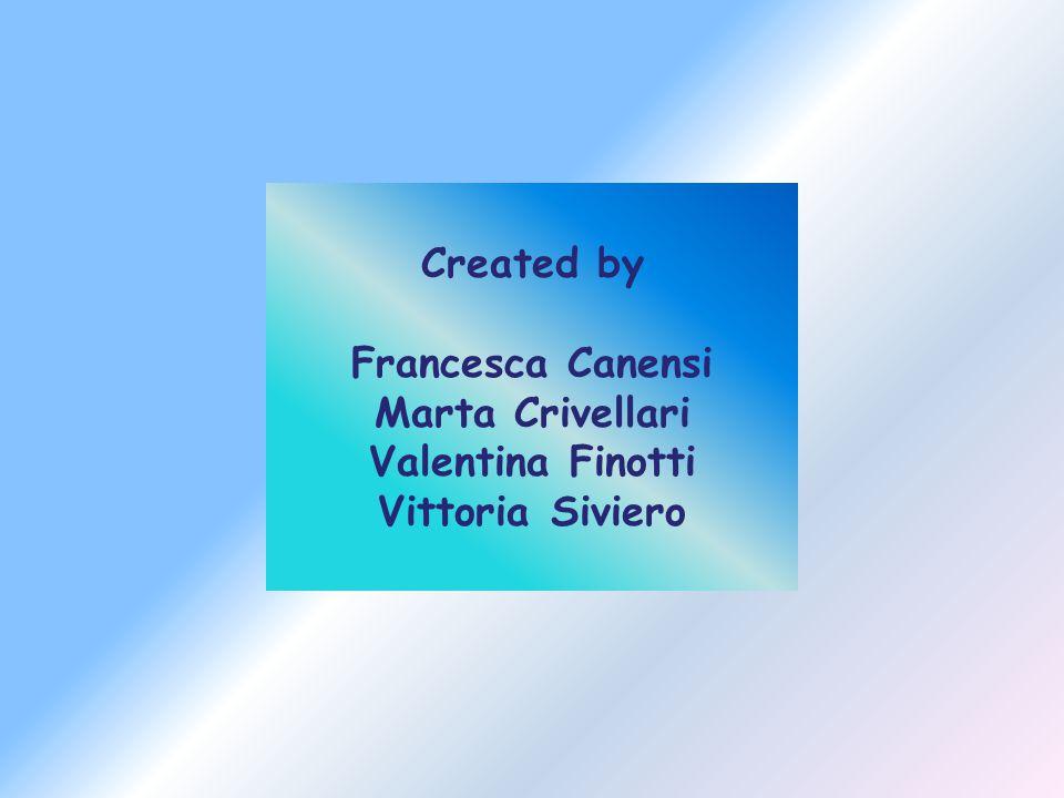 Created by Francesca Canensi Marta Crivellari Valentina Finotti Vittoria Siviero