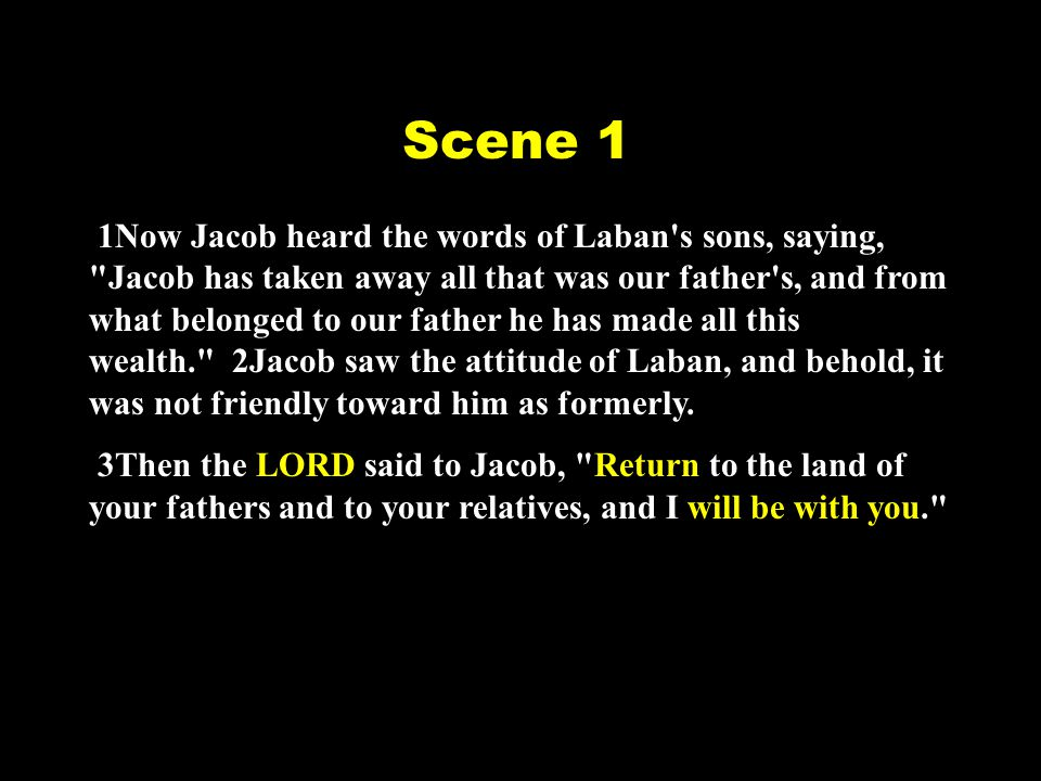 4So Jacob sent and called Rachel and Leah to his flock in the field, 5and said to them, I see your father s attitude, that it is not friendly toward me as formerly, but the God of my father has been with me.