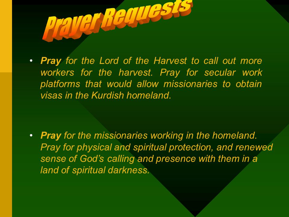 Pray for the Lord of the Harvest to call out more workers for the harvest.