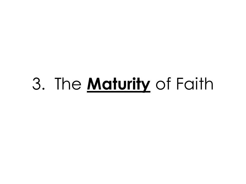 3. The Maturity of Faith