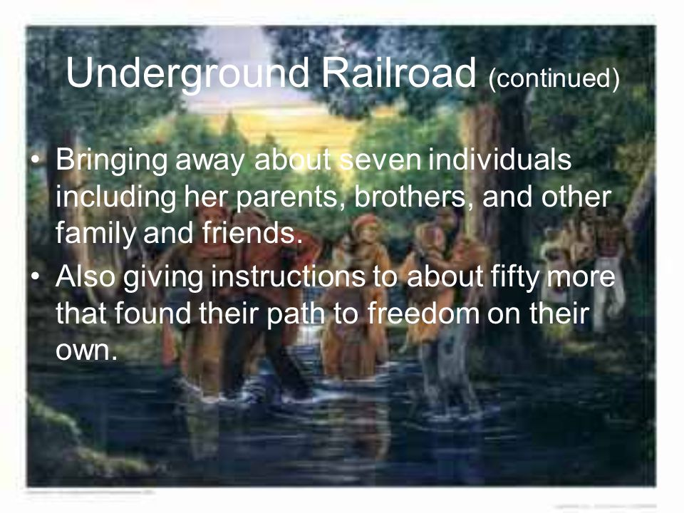 The Underground Railroad Route