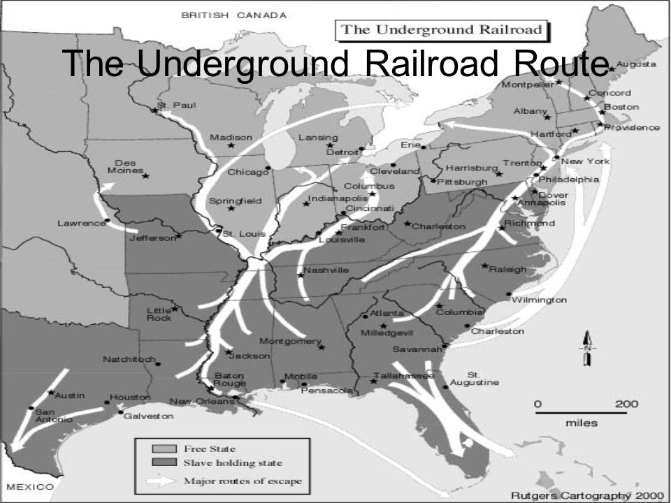 The Underground Railroad Route