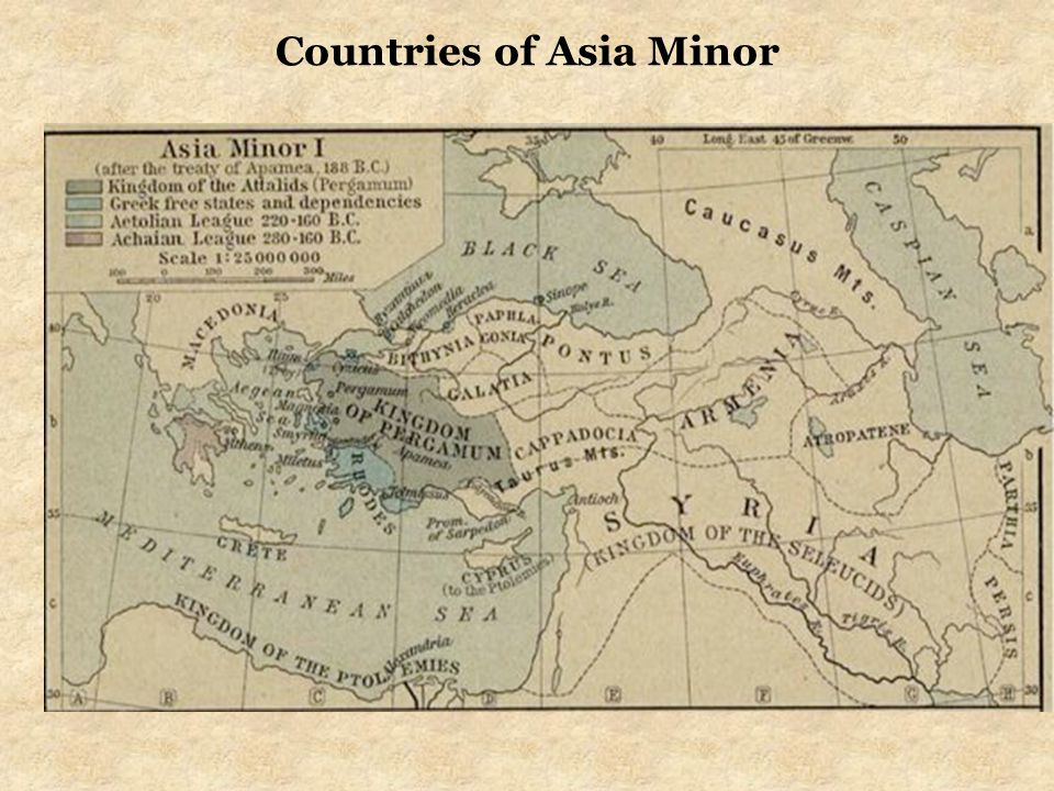 Countries of Asia Minor