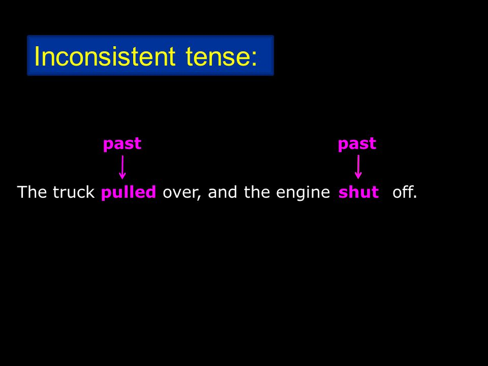 Verb Tense Consistency DIFFICULT