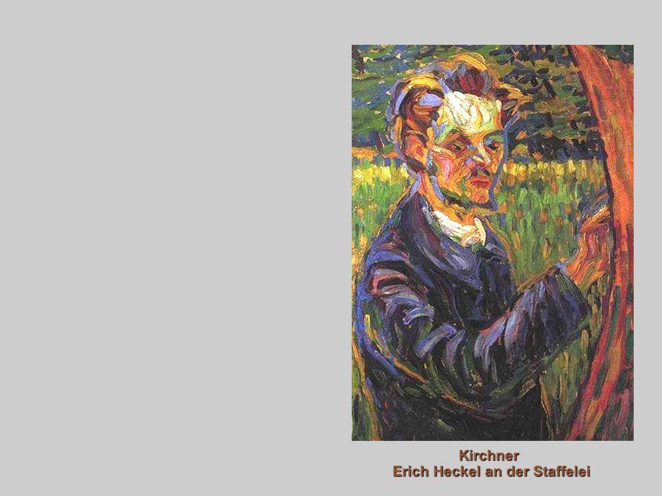 Kirchner Erich Heckel an der Staffelei
