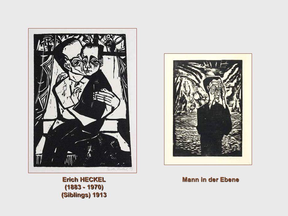Erich HECKEL (1883 - 1970) (Siblings) 1913 Mann in der Ebene
