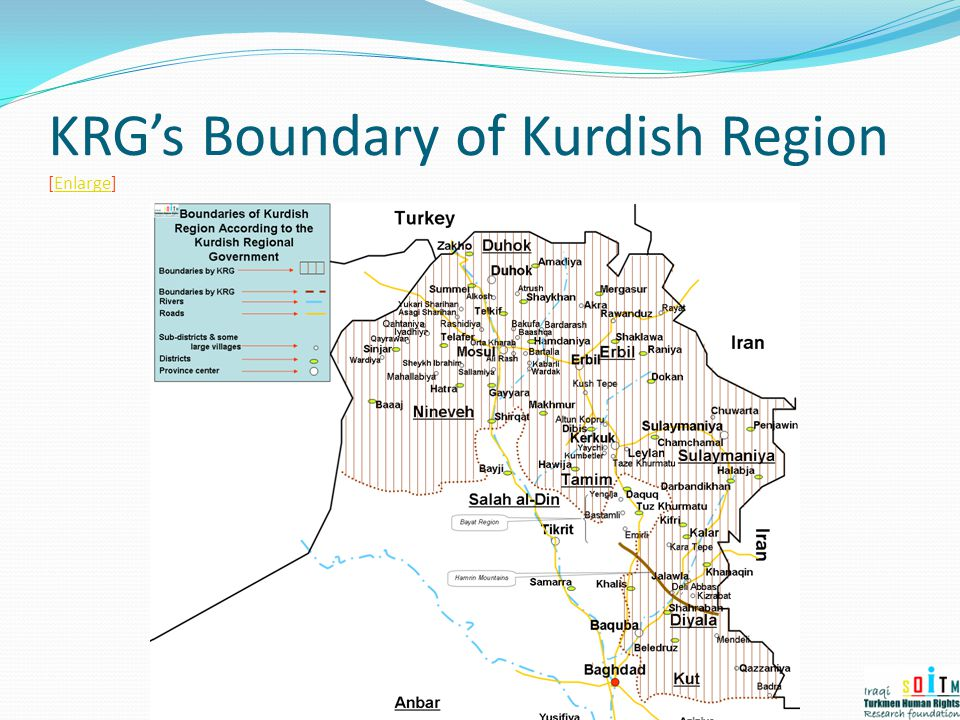 KRG's Boundary of Kurdish Region [Enlarge]Enlarge