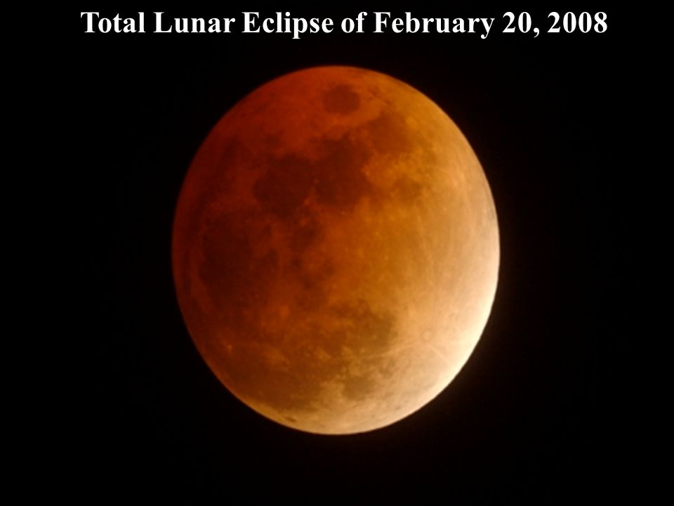 Total Lunar Eclipse of February 20, 2008