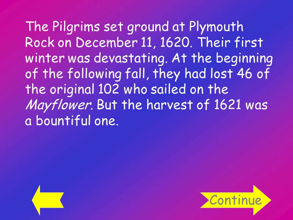 The Pilgrims set ground at Plymouth Rock on December 11, 1620.