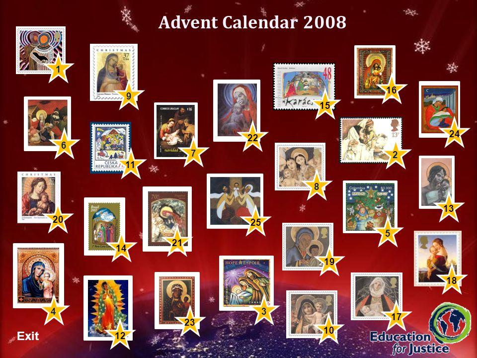 8 7 5 Advent Calendar 2008 1120191817212224 14 16 Exit 10 1 9 1315 2312 3 25 4 2 6