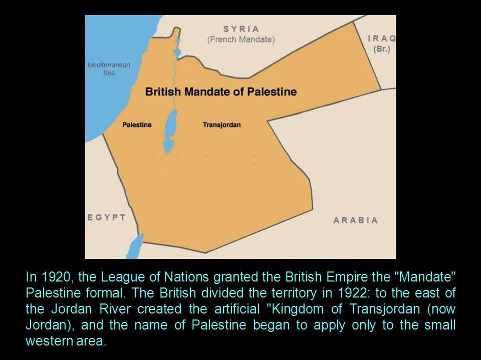 But later that same year, British troops occupied Palestine under the command of General Edmund Allenby, ending Ottoman control.