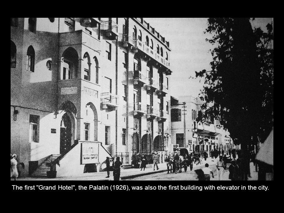 Allenby street in 1926.