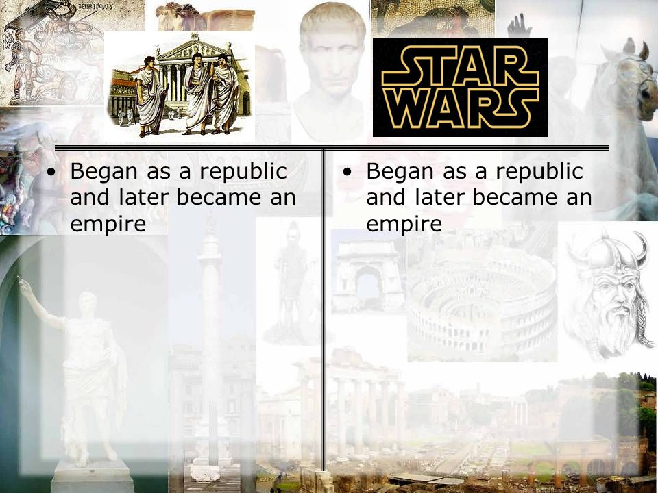 Began as a republic and later became an empire